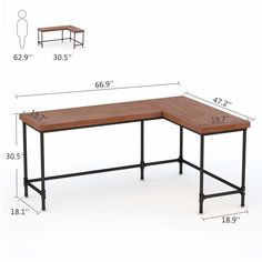 Home Office Furniture: Choosing The Right Computer Desk Diy Office Desk, Office Computer Desk, Home Office Setup, Diy Desk, Home Office Design, Office Ideas, Retro Furniture, Home Office Furniture, Furniture Plans