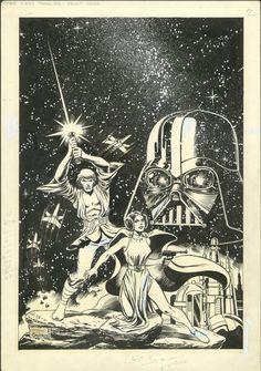 Star Wars Treasury Cover - Rick Hobert (Pencils), DaveCockrum (Inks)