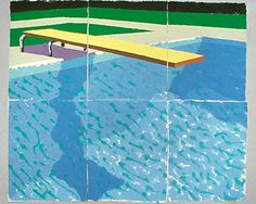 Sprungbrett mit Schatten, 1978 colored and pressed paper pulp 72x85 1/2 in