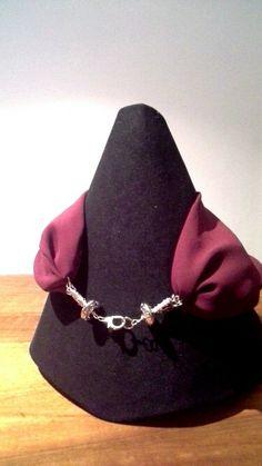 Foulard necklace seta pura