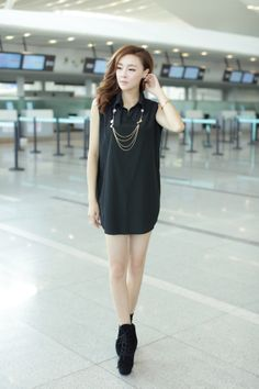 2 piece set, dress set, woolen knitwear, tunic dress, wool tunic, wool dress, long sleeve dress, sleeveless dress, YRB0337, korean style onl...