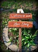 Welcome To Our Love Story Rustic Wedding Sign by SawmillCreations, $30.00