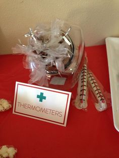 "Pretzel ""Thermometers"" at my Nursing Graduation Party!"