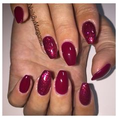 Red Gel Mani Coffin Nails Fall 2014 @NailsByMargarita