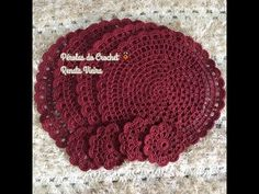 Sousplat em Crochet modelo Pérolas - YouTube