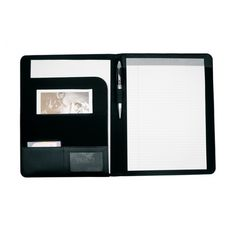 CrisMa leather A4 conference folder A4 bonded leather folder with  various compartments and a note pad