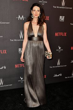 Caitriona Balfe attends The Weinstein Company and Netflix Golden Globes After Party, on January 8, 2017 in Los Angeles, California.