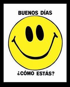 Levantate con una hermosa sonrisa y veraz que sera un dia genial!!