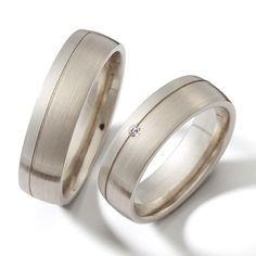 Argollas de matrimonio satinadas