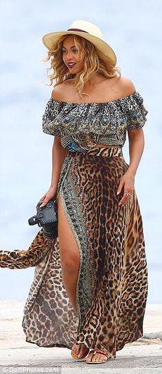 I like the maxi skirt with high slit