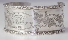 Antique Sterling Napkin Ring Cuff - Small 003 - Click Image to Close
