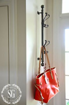 CREATING A WELCOMING FOYER-front door-coat rack-stonegableblog.com