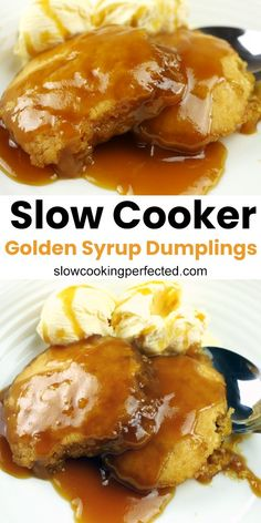 Slow cooker golden syrup dumplings the best slow cooker chicken ever Golden Syrup Dumplings, Crockpot Recipes, Cooking Recipes, Microwave Recipes, Slow Cooker Desserts, Crock Pot Cooking, Crock Pots, Pressure Cooker Recipes, Sweet Recipes