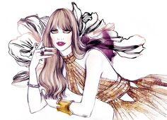 Beautiful Fashion Women Portrait Illustrations by Soleil Ignacio