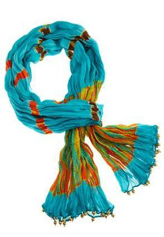 Cato Fashions Beaded Tie Dye Oblong Scarf #CatoSummerStyle
