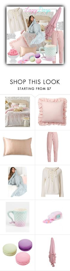 """""""Lazy Days"""" by mandiek-2 ❤ liked on Polyvore featuring EnVogue, Pottery Barn, Donna Karan, Vetements, NSF, Sugar Milk Co and Ladurée"""