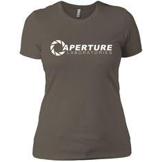 Aperture Laboratories T-Shirt-01 Next Level Ladies' Boyfriend Tee