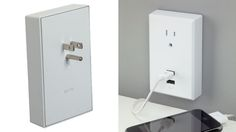 Wall plate adds USB ports to your wall outlets, no wiring required. Very handy! Gadgets And Gizmos, Technology Gadgets, Cool Gadgets, Usb Charging Station, Take My Money, Wall Outlets, Charger Plates, Cool Tech, Plates On Wall