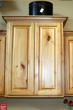 Custom Cupboards Distressed Knotty Alder, Java stain ...