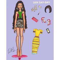 Biracial Barbie @hoodratken @luxurylaw @faustopuglisi_wow @dkny Pictures Of Zendaya, Zendaya Maree Stoermer Coleman, I Icon, Material Girls, Dream Life, New Look, Dress Up, Wonder Woman, Glamour