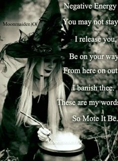 Negative energy banish Wicca pagan cleansing, pagan sayings spells of magic for you spell book and Book of Shadows Wiccan Spell Book, Wiccan Witch, Magick Spells, Wicca Witchcraft, Wiccan Spells Love, White Witch Spells, Easy Spells, Green Witchcraft, Removing Negative Energy