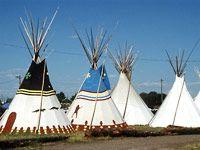 Indianer Zelte (Tipis) (Bild: dpa)