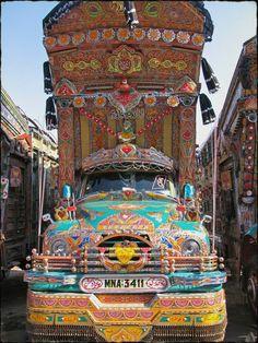 Caminhão enfeitado - Paquistão.