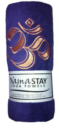 Namastay Yoga Towel Purple www.downdogboutique.com #YogaMat #YogaAccessories #Yoga