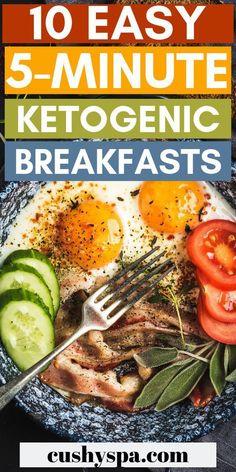 Keto Diet Easy Quick Recipes #KetogenicDietBreakfast Ketogenic Diet Breakfast, Quick Keto Breakfast, Ketogenic Diet Meal Plan, Ketogenic Diet For Beginners, Ketogenic Recipes, Diet Recipes, Healthy Recipes, Breakfast Ideas, Breakfast Recipes