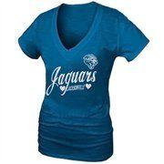 Jacksonville Jaguars Heart Script Baby Jersey T-Shirt - Teal