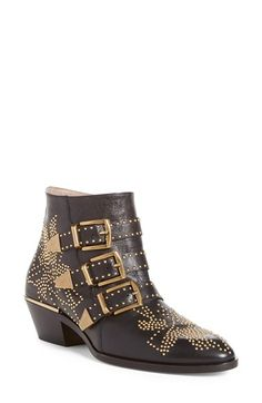Winter Style Ideas. Winter Fashion and Winter Outfit Ideas. Gold studded ankle boots.