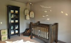 Rustic Crib & Cool Bird Cages