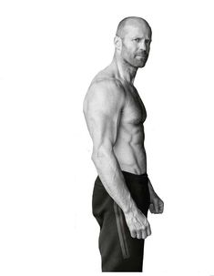 Statham para Men's Health UK por Daniel Smith Jason Statham para Men's Health UK p. Fitness Workouts, Mens Health Uk, Bald Men Style, Muscle, Poses References, Hommes Sexy, Black And White Portraits, Male Body, Gorgeous Men