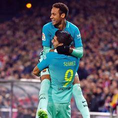 Neymar and Luis Suarez