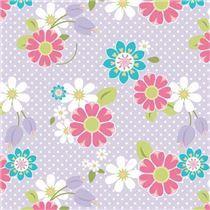 light purple flower 'Dream and a Wish' knit fabric Riley Blake
