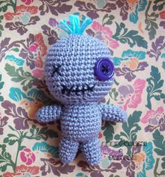 Amigurumi Voodoo Doll Free Pattern by Abbygurumi. Isn't this voodoo doll cute? :D #amigurumi #crochet #pattern