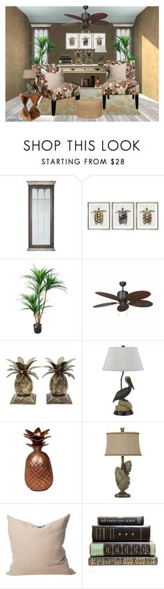 """""""Tropical"""" by terry-tlc ❤ liked on Polyvore featuring interior, interiors, interior design, home, home decor, interior decorating, William Stafford, Yosemite Home Décor, Godinger and Cal Lighting"""