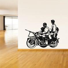 Wall Decal Vinyl Sticker Decor Art Bedroom Motorcycle Moto Soldiers War Warior (Z1981) StickersForLife http://www.amazon.com/dp/B00FUWRPKG/ref=cm_sw_r_pi_dp_elrfvb0XBN5KV