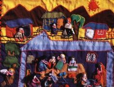 Las arpilleras de Bélgica Castro. Homenaje a un marido de 20 años que no regresó. Textiles, Projects To Try, Embroidery, Ideas, Husband, Hessian Fabric, Textile Art, Sons, Needlework