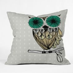 Gabi Hoot Throw Pillow | DENY Designs Home Accessories