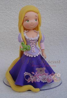 Topo de bolo Rapunzel