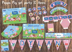 PEPPA PIG George Pig Set Party Decor Customizable by BolleBluParty $15.00 - only etsybolle@gmail.com