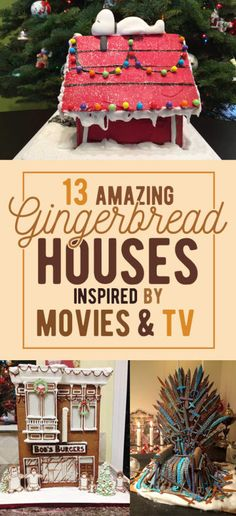 13 Epic Gingerbread Houses Inspired By Your Favorite Movie And TV Shows