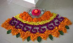 Flower boat shape design for festival. Rangoli Designs Flower, Rangoli Ideas, Rangoli Designs Diwali, Diwali Rangoli, Flower Rangoli, Beautiful Rangoli Designs, Flower Designs, Diy Diwali Decorations, Indian Wedding Decorations