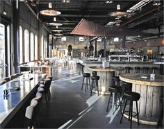 CAFE RESTAURANT STORK AN OLD INDUSTRIAL WAREHOUSE ALONG THE AMSTERDAM WATERFRONTS AMSTERDAM/NIEDERLANDE/2011
