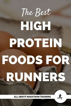 High Protein Foods for Runners If you are training for a half or full marathon, your highest macronutrient source that Best High Protein Foods, Good Sources Of Protein, Ideal Protein, High Protein Recipes, Hemp Protein, Protein Diets, Protein Snacks, Healthy Protein, Eat Healthy