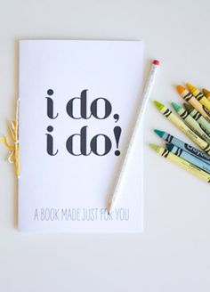 11 Ways To Keep Kids Busy At Your Wedding - coloring book and provide crayons