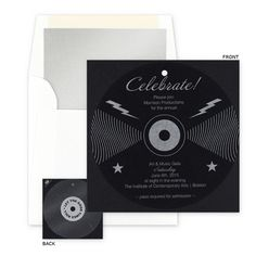 Rock 'n Roll invitation from the Checkerboard Cheers collection