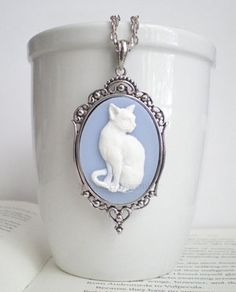 Catsparella: My Sweet November Halloween Cat Cameo Necklace Giveaway!
