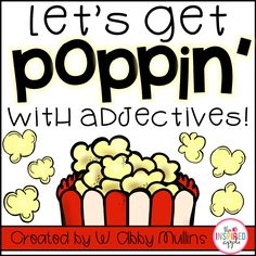 This bundle includes activities for teaching adjectives to primary students using popcorn! Easy to smell, touch, taste, and feel, popcorn is the perfect food to help your students understand what adjectives are and how to use them. Verb Activities For First Grade, Parts Of Speech Activities, Adjectives Activities, First Grade Lessons, First Grade Writing, Grammar Activities, First Grade Classroom, Esl Lessons, English Activities